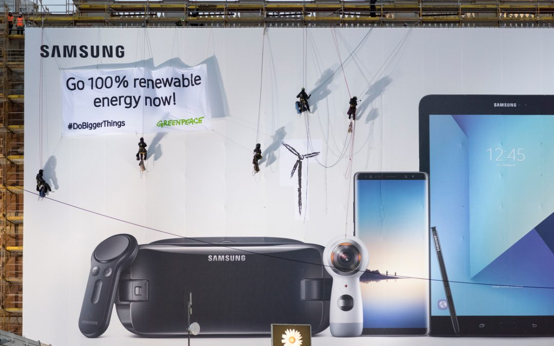 Samsung pledges to use only renewable energy by 2020